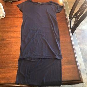Navy Blue Short Sleeve Tunic
